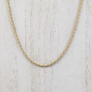 "14kt Gold Rope Chain 18"" Yellow Gold Final Price"